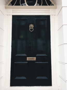 look at the lion knocker!