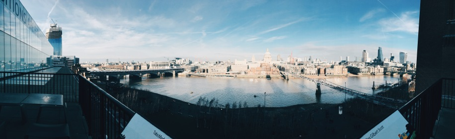 panorama of London, from Tate Modern balcony