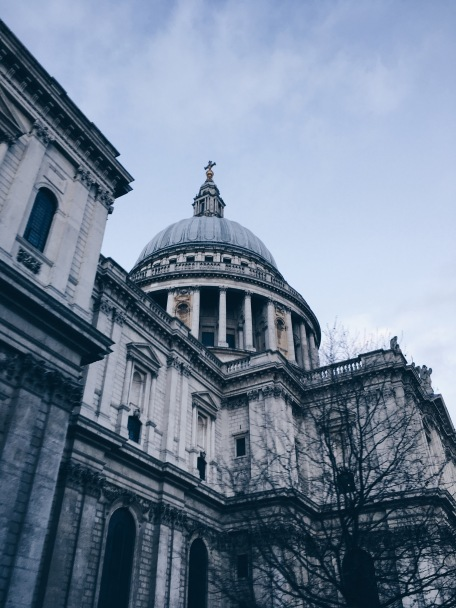 glimpse of St. Paul's Cathedral