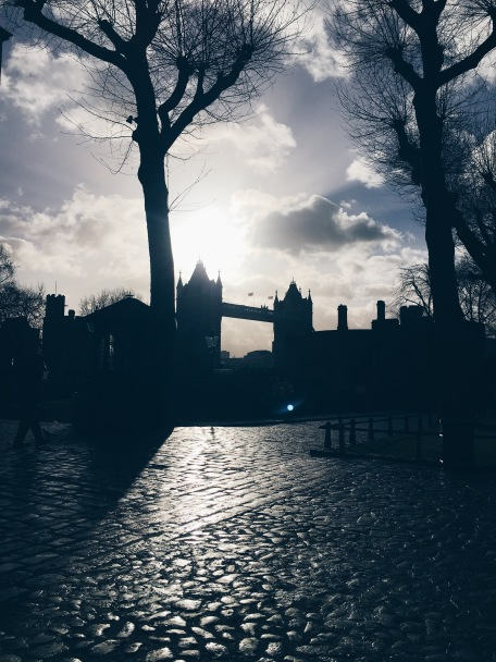 view of Tower Bridge - not actually from the Tudor Period!