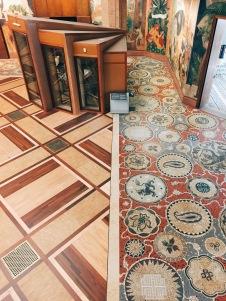 aerial view of mosaic floor