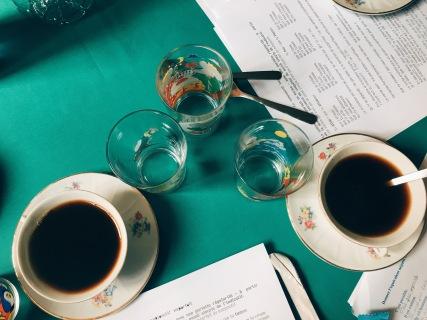 un peu de café so we don't nod off ;)