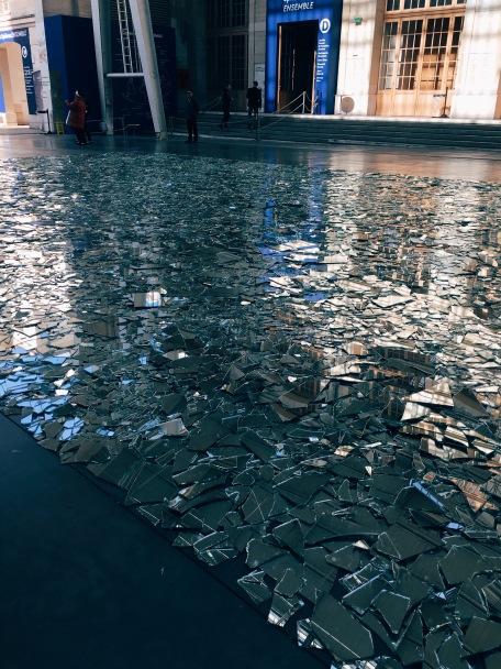 glass mosaic artwork at CentQuatre