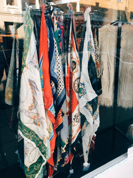 silk scarves in London