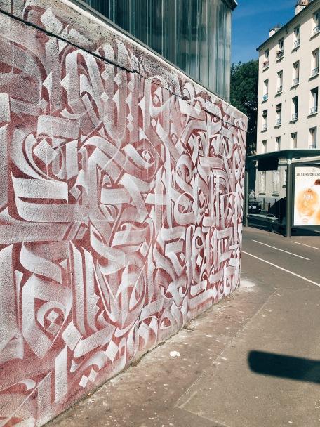mural wall beginning at CentQuatre