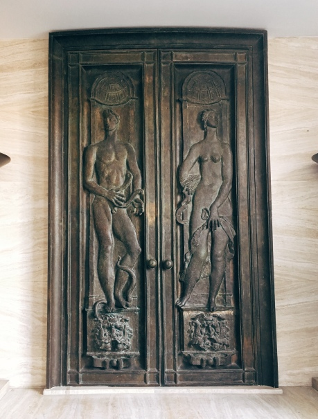 decommissioned bronze doors from the Assembly Hall