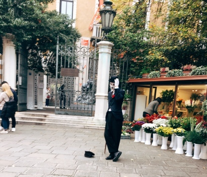 a mime along the way