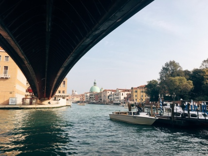 first view of the Grand Canal upon arrival