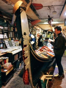 books in a gondola