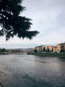 view over the Adige River