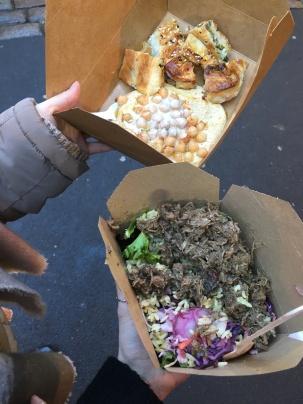 street food from Borough Market