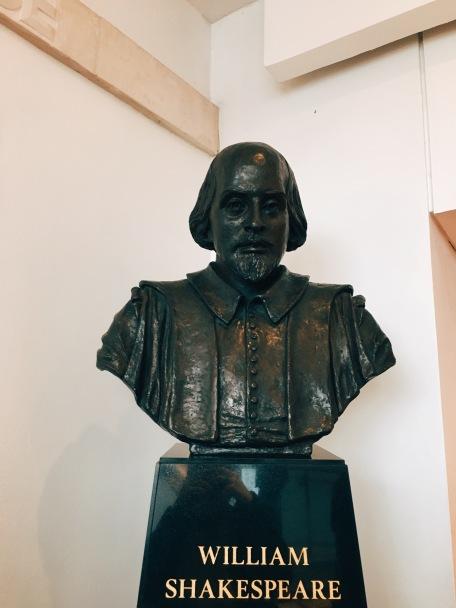 bust of Shakespeare himself