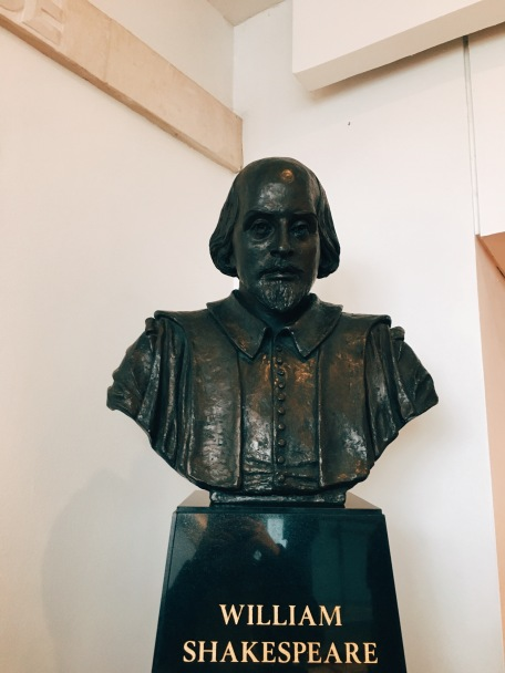 bust of Shakespeare himself