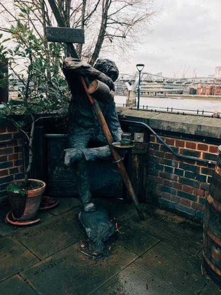 little statue outside