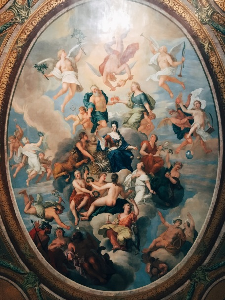 ceiling of a royal bedroom