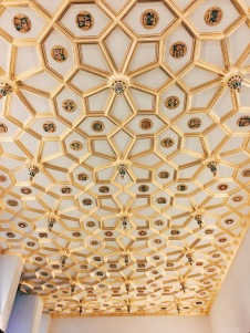 ceiling of the gilded Receiving Room