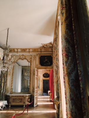 glimpse of a royal bedroom