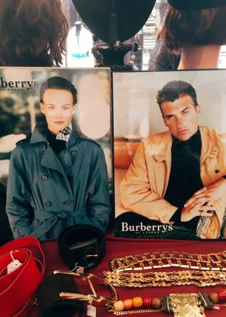 vintage Burberry catalogs
