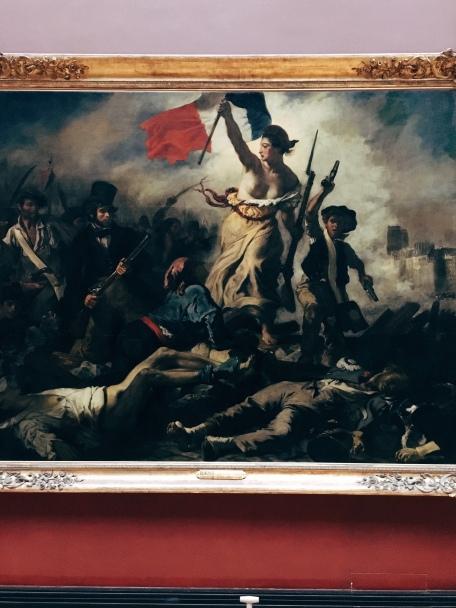 """""""La Liberté guidant le peuple"""" - Delacroix, 1830"""
