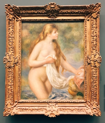 Bather with Long Hair, Renoir