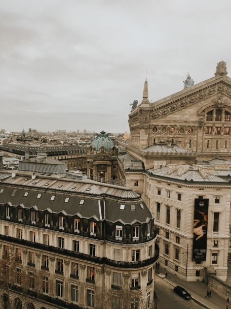from the rooftop of Galerie Lafayette